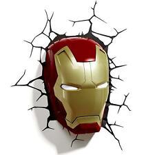 Marvel Avengers Iron Man Mask 3D LED Children's Wall Light