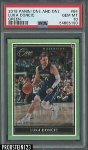 2019-20 Panini One And One Green #84 Luka Doncic 5/5 LAST ONE PSA 10 POP 1