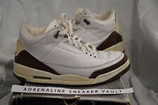 Air Jordan 3 III Dark Mocha White 2001 Vintage Retro Collectable Rare Bulls Bred