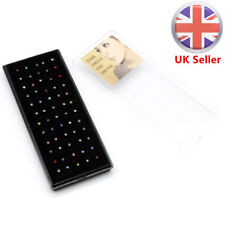 60x Surgical steel Nose Studs Mix Colour Crystal Body Jewellery Claw Set Box UK