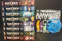 LOT OF 12 NANCY DREW PC GAMES MYSTERY #10 TO #21 CD ROM OOP