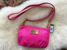 """Marc Jacobs """"Classic Q Percy"""" Small Crossbody Bag in Bright Rosa Color Pink"""