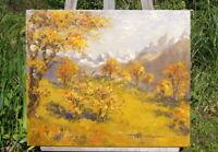 hervorragendes Ölgemälde Blick in die Berge signiert Müller 1962 Künstlerarbeit