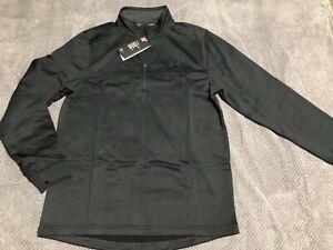 UNDER ARMOUR Men's Fleece 1/2 Zip Black Size M BRAND NEW! GENUINE!