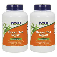Green Tea Extract 400 mg 250 Veg Capsules - NOW Foods *Pack of 2*