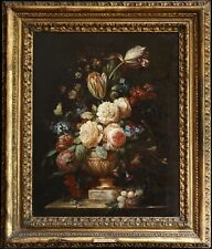 18th CENTURY FRENCH OLD MASTER OIL ON CANVAS - FLOWERS IN URN - PIERRE MIGNARD