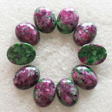 10Pcs Ruby in Fuchsite Oval CAB CABOCHON 20x15x5mm H-278
