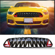 1pcs For Ford Mustang 2015-2017 Front Upper Grill Mesh Grille Modified Black-Red
