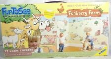 FunToSee Funberry Farm 72 Room Stickers Farm Animals Wall Decals