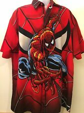Spider-Man Spidey Button Down Shirt Marvel Comics