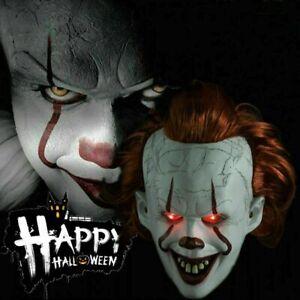 Stephen Kings Es Maske Pennywise Clown Maske Horror Halloween Cosplay Kostüm