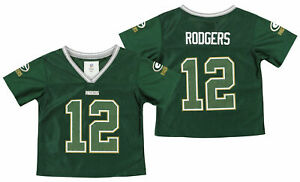 Outerstuff NFL Toddlers Girls Green Bay Packers Aaron Rodgers #12 Player Jersey