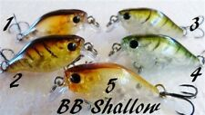 Chubby Shallow Crank Crankbait 5 lure set 37mm 4.5g fishing Bream Bass Flathead