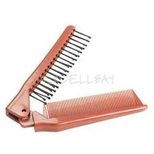 Salon Antistatic Double Side Hairdressing Comb Travel Foldable Hair Brush E0Xc