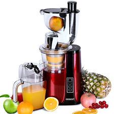 monzana® Entsafter Slow Juicer 500W Saftpresse Edelstahl Fruchtpresse 60U/min