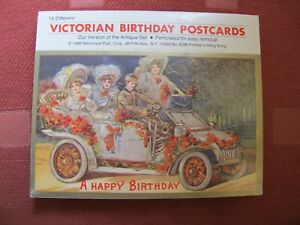 Book of 14 unused Victorian Birthday postcards purchased in USA.