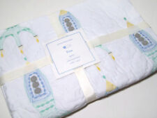 Pottery Barn Kids Nautical Under the Sea Blue Toddler Quilt Reversible 36x50