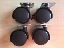 4 x Ruote Castor Girevole - 41 mm - 4 Bullone piastra di fissaggio - 3 normale & 1 Bloccaggio