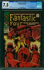 Fantastic Four #81 CGC 7.5 -- 1968 -- Crystal joins. A+ centering #2001875015