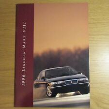 Lincoln Mark VIII 4.6 V8 COUPE USA American Market brochure Juillet 1995 pour 1996