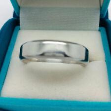 Platinum ring 6mm wide male men's heavy wedding / dress ring