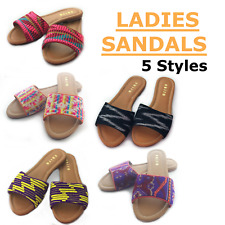 NEW WOMENS *UK SIZE 4 / EU 37* SANDALS LADIES FLIP FLOP- VARIOUS COLOURS - Saira