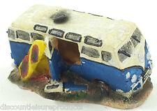 Aquarium VW Camper Van + Surf Board Bubble Ornament Fish Tank Decoration #2830B1