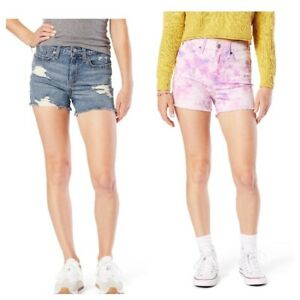 Levi Strauss 2PACK 11/W30 High Rise Shorts Blue Jeans & Multicolor CUTE *NWT*