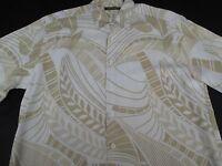 Cubavera Mens Hawaiian Aloha Button Front Short Sleeve Rayon Shirt Large L