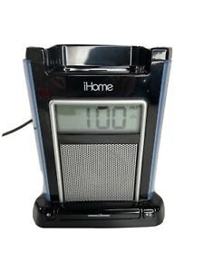 iHome iH4B Alarm Clock Speaker System with audio jack and Dock ~ iPod/iPhone