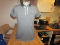 "Men's Designer 883 POLICE Size 2 Polo  T Shirt  - 40"" Chest"
