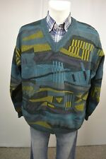 ANGELO LITRICO Herren Strick Pullover L 52/54 Wolle  Mehrfarbig   TOP