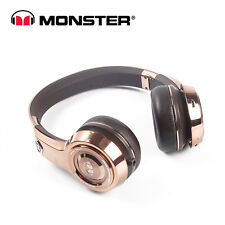 NEW Monster 24K Gold Professional DJ-Style Wired Headphones
