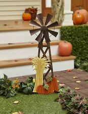 Autumn Harvest Windmill Spinner Stake - Rustic Farmhouse Yard Decoration