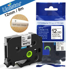 Compatible Brother TZ-231 Tze P-Touch Black on White Label Tape 12mm x8m TZe-231