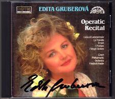 Edita GRUBEROVA Signed BELLINI DONIZETTI VERDI La Traviata I Puritani Autograph