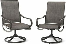 New ListingPatio Swivel Dining Chairs Set of 2 Metal Rocker Chairs Outdoor Garden Furniture