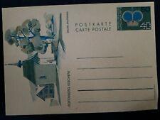 """c.1970s Liechtenstein 50c surcharge on 40c Stamped Postcard """"Rofenberg Eschen"""""""
