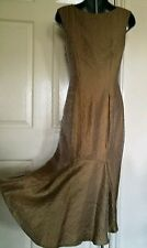 DRESS 8 34 SMALL CHAMPAGNE GOLD METALLIC EVENING WEDDING OCCASION PARTY KALIKO