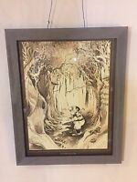 "Vintage Lithoprint ""In The Rough""HandSigned""G.Patterson""20""X16"".C9pix.MAKE OFFER"