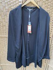 Ann Harvey Black Open Front Long Sleeve Cardigan/ Jacket Size 30 Bnwt Rrp£45