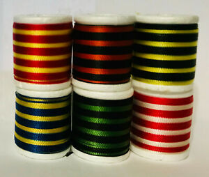Gudebrod Space Dyed Rod Winding Thread Size E 50 Yd Spools, 6 Colors, Nylon