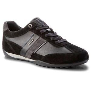 Geox Respira Herren U Wells C Low Top Sneaker Schnürer Halbschuhe U52T5C Black