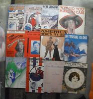 Lot of 12 Early to 1930s Era Patriotic Other Sheet Music Booklets