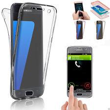 360° Silicone Transparent Protection Antichoc Coque Pour Samsung Galaxy Modèles