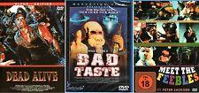 Braindead , Meet the Feebles , Bad Taste , 100% uncut , NEW & Sealed