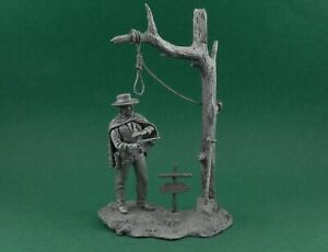 Tin toy soldier Man with No Name. Clint Eastwood. Metall sculpture 54 mm