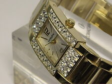 RELOJ VENDOUX MUJER ACERO DORADO SWAROVSKI Md19050 WOMENS NEW STEEL WATCH 3 ATM