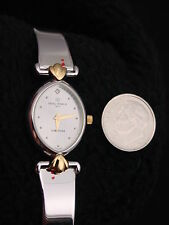 French Michel Herbelin Ladies Watch Stainless Gold Faux Diamond