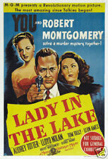 Lady in the lake Robert Montgomery movie poster